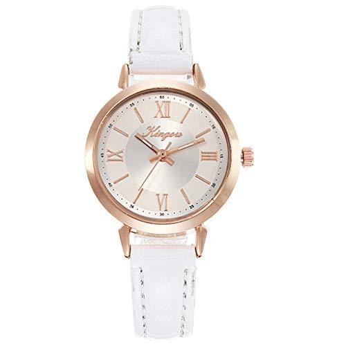 XZDCDJ Damen Armbanduhr Einfach ohne Digitalwaage Rose Gold Shell Gürtel Quarz Mode weibliche Uhr Damen Uhren Billig F Stretch Lace Shell