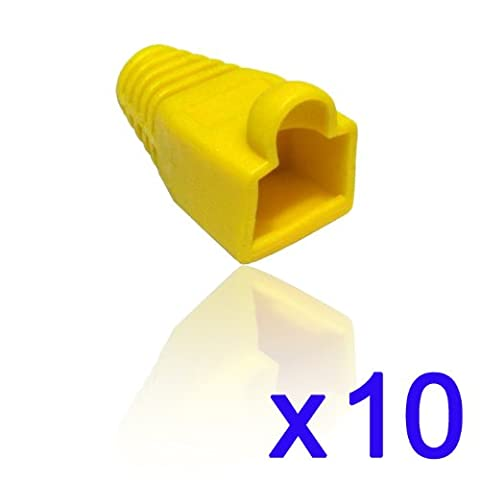 CDL Micro RJ45 Strain Relief Boots - Yellow (Pack of