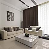 Verdicken Sie Blackout Vorhänge, solide thermisch isolierte Schalldämmung moderne einfarbig Tuch Vorhänge für Küche Schlafzimmer Wohnzimmer Energieeinsparung Lärm reduzieren 1 Stück.-Dunkelgrau 200x20
