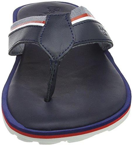 Pepe Jeans London Herren Barrel Fabric Zehentrenner Blau (Navy)