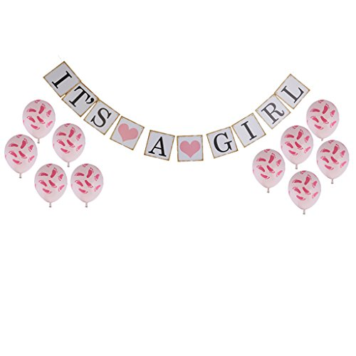 Sharplace Geburtstag Party Scherzartikel, Baby Muster Dekoration Rosa (Baby Girl 1. Geburtstag Dekor)