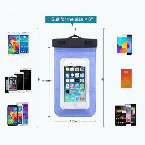 HEROUNION Löschen Sie wasserdichte schmutzdichte Unterwasserbeutel-trockene Taschen-Kasten-Abdeckung für iPhone Mobiltelefon-Bildschirm-