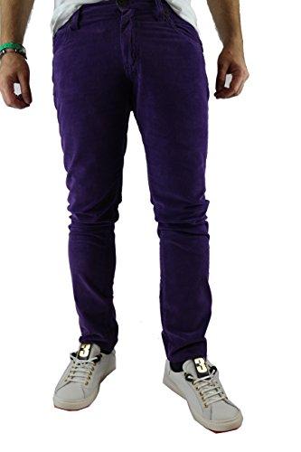 FRANKIE MORELLO size 31 pantaloni uomo viola cotone AM183