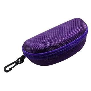 Accessotech Sonnenbrille Lesebrille Tragetasche Hart Reißverschluss Box Reisepack Tasche - Lila