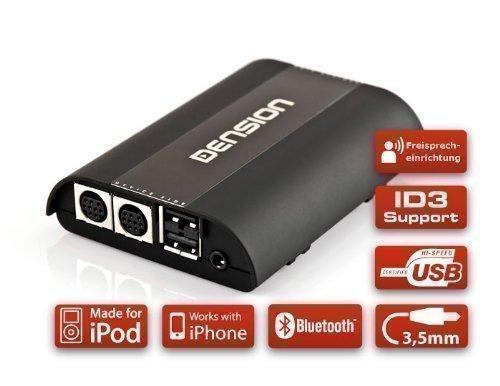 DENSION Gateway 500S BT GW52MO1 (iPhone + iPod + USB + AUX + Bluetooth) für Audi, BMW, Mercedes & Porsche mit Most-Bus (Single FOT)