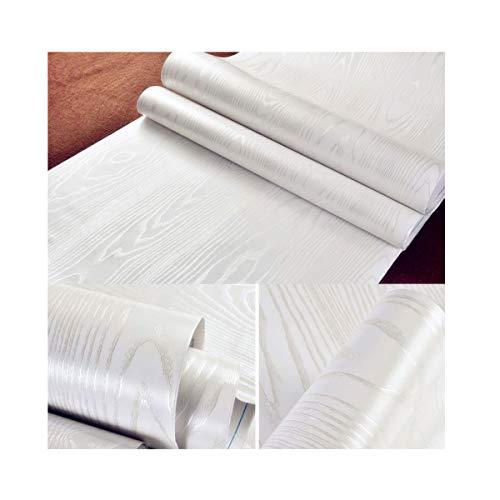 40 cm × 200 cm Adhesivos Vinilo Madera Papel de Contacto de Madera Blanco Adhesivo de Plástico Adhesivo Posterior Pegatinas de Vinilo Autoadhesivo de la Película Material de PVC Pegatinas de Bricolaje Renovación de Muebles para Aparador de Cocina Proyectos de Artesanía de Cajón Nightstand Librería Estante Puerta pared Papel Adhesivos Papel Madera Blanco(15.7 '× 78.7')