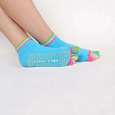 GETKO WITH DEVICE Cotton Women's 5 Finger Socks (24x8.5cm, Multicolour)