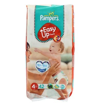 Pampers - P04275097 - Couches culottes Easy Up maxi T4 8/15kgformat Géant - 42 couches