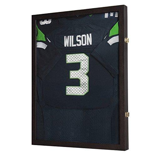 JackCubeDesign Abschließbare (2 Schlösser) / transparente Displaybox / Gehäuse für Jacke, Uniform, Trikot mit Acrylüberzug (braun) -: MK358B