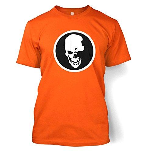 Shinigami Skull Männer T-Shirt Orange