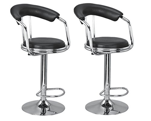 MBTC Metro Bar Stool In Black ( set of 2 )