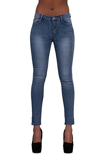 womens-angel-wings-skinny-blue-faded-denim-jeans-size-uk-14