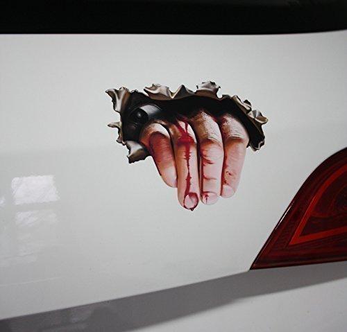 HAND im KOFFERRAUM - Splatter Blut Hand Hitcher Horror Zombie Halloween - (Auto Halloween)