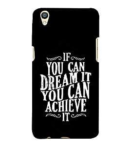 Fuson Designer Back Case Cover for Oppo F1 Plus :: Oppo R9 (Dream Achieve Do It Be confident trust)