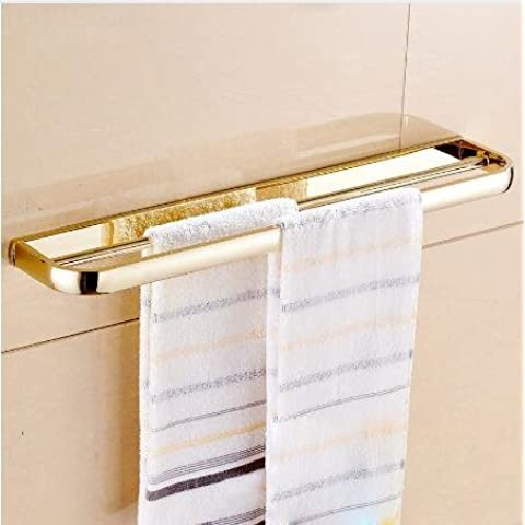 LYNDM Stile Euro portasalviette Portasalviette 24 pollici doppia barra asciugamano