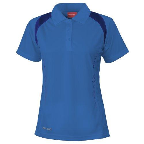 Spiro - Polo Sportiva - Donna Bianco/Blu navy