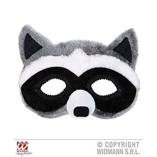 Kostüm Waschbär Zubehör - Lively Moments Augenmaske / Maske / Gesichtsmaske plüschiger Waschbär ( Waschbärkostüm / Tierkostüm Zubehör )