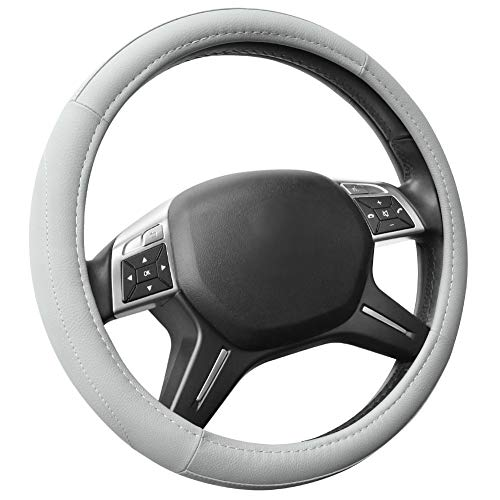 COFIT Lenkradhülle Lenkrad Abdeckung Lenkradbezug aus Mikrofaser-Leder 37-39 cm Grau