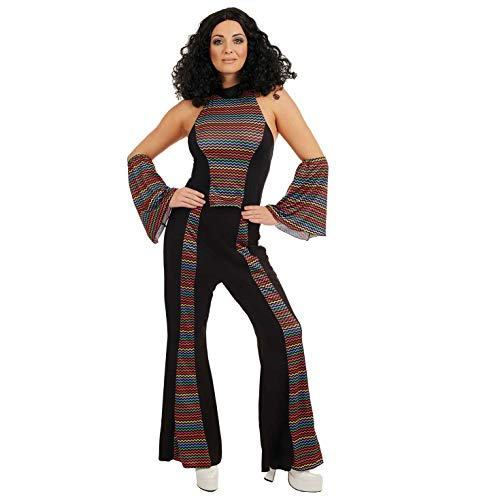 Fun Shack Damen Costume Kostüm, Rainbow Disco Fever Suit, XL