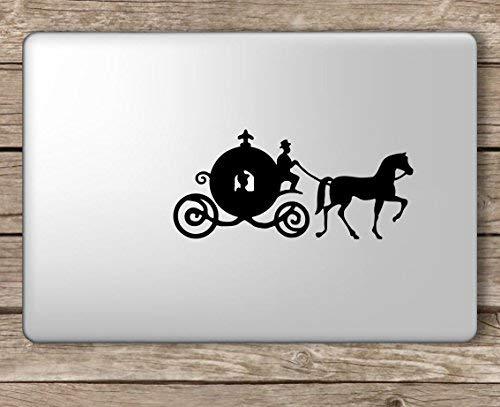 Cinderella Carriage Disney - Apple MacBook Laptop Vinyl Sticker Decal, Die Cut Vinyl Decal for Windows, Cars, Trucks, Tool Boxes, laptops, MacBook - virtually Any Hard, Smooth Surface (Disney Mac Decal)