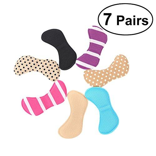 Healifty Füße Aufkleber 7 Paar Selbstklebende Weichen Schwamm Fußpflege Protector Einlegesohle Liner Ferse Schuhe Zurück Schaum Pads (Sieben Farbe) (Einfügen Schuh-liner)
