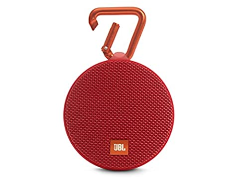 JBL Clip 2 Waterproof Ultra Portable Wireless Bluetooth Speaker - Red