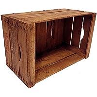Coffre en bois vintage restauré // recommandé pour la réalisation de meubles, étagères, bibliothèques etc ... - Boîtes à fruits anciens - Boîtes en bois -Porte-bouteille en bois // vintage // DIY // upcycling // recyclage créatif //