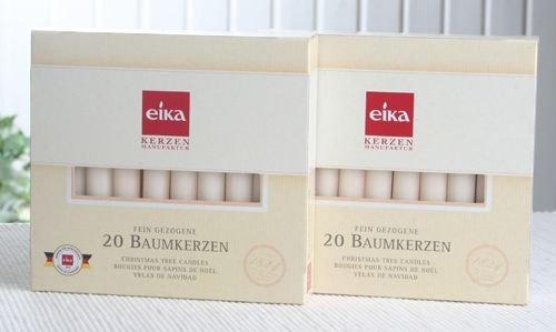 SET: 40 Eika-Baumkerzen (2x 20er-Pack), Champagner