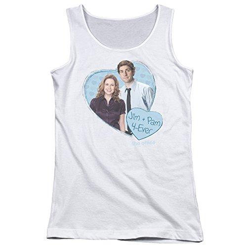 The Office Comedy Sitcom TV Series NBC Jim & Pam 4 Ever Juniors Tank Top Shirt