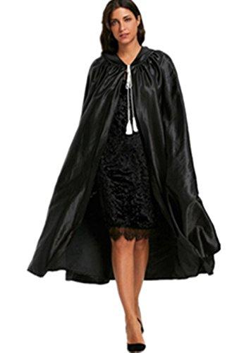rwachsener Kapuzen Unisex Kap Umhang Teufel Wicca Robe Outwear (Schwarz) (Halloween Und Wicca)