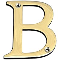 Bulk Hardware BH04278 Solid Brass Polished and Lacquered Letter B, 50 mm, 2 inch - ukpricecomparsion.eu