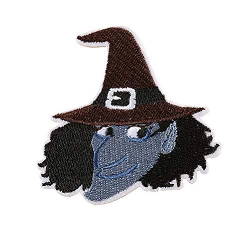 Dosige 10 Stück Halloween Stoff Aufnäher Aufbügler Kleidung DIY Nähen Patches für T-Shirt Jeans Hut Dekor 6.9 * 6.5cm Stil-K