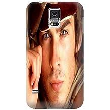 2014Cool Ian Somerhalder Hot moda de TPU para Samsung Galaxy S5impermeable carcasa antigolpes