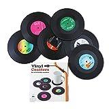 Vinyl Record Coaster Set - Retro Novelty Drink Mats by Ashtrays