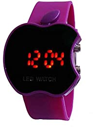 Styllent Apple Led Purple Watch - For Boys & Girls Fashion Wrist Watch Specially For Teenager Boys And Men Black...