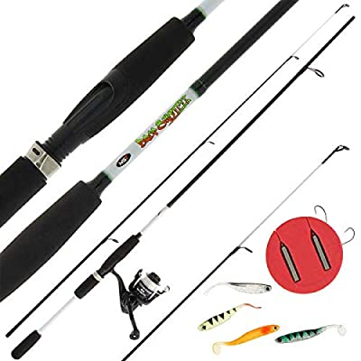 NGT Drop Shot/Drop Shotting 7ft Carbon Coarse Fishing Rod with Reel Preloaded with 10lb Line Drop Shot Rigs by DNA