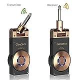 Getaria Système de Guitare sans Fil Émetteur et Récepteur 2.4G avec Audio Rechargeable pour Guitare Électrique et Basse Électrique avec Câble Audio Stéréo(10inch) (WS-20-1)