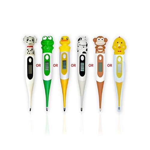 JunYe Digitales Thermometer Weichgummikopf Wasserdicht Erwachsene Kinder Rektal Oral Achsel Unterarm LCD Temperaturmessung Babypflege