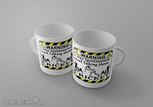 ACHTUNG I May Spontan sprechen Cricket 11Oz Tee/Kaffee Tasse