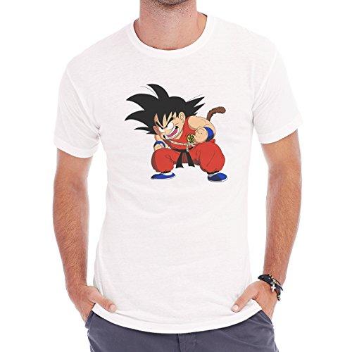 Dragon Ball Z Goku Furious Herren T-Shirt Weiß