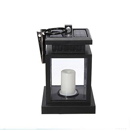 Weihnachts-candlelight-lampen (SUPEWOLD Candle Light, Garten Solar Powered LED-Kerze Laterne Zum Aufhängen Licht Outdoor Garten Lampe für Weihnachten Festivals Hochzeit Geburtstag Decor, Schwarz)