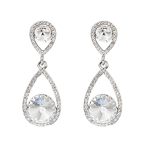 Swarovski Elements Kristall ''Nobiltà'' Damen-Ohrstecker (White Lady Kostüm Ideen)