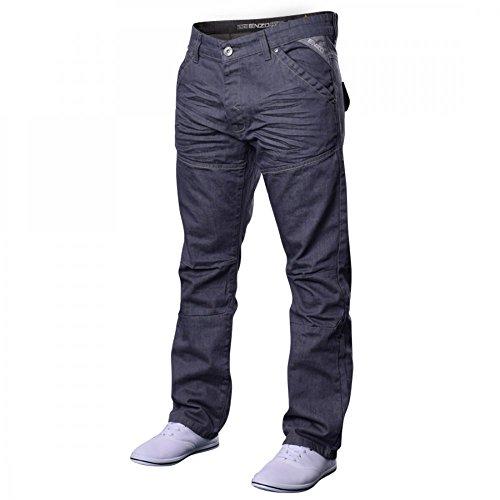 Men's Designer Enzo EZ243 EZ244 Jeans. Light Blue Dark Blue Straight Leg Waist Size 28 30 32 34 36 38 40 42 44 46 48 34 Short EZ313 Grey