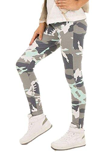 Camouflage Mädchen Leggings Leggins Hose Kinder hk262 140 Minze
