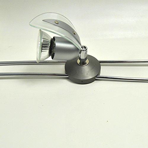 1x Schienen System Lampe Spot Schienensystem Stangen Leuchte, LED geeignet, Darlux 55252018, Paul Neuhaus Glas