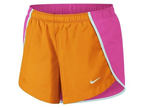 Nike Mädchen G Nk Dry Sprinter Short Hose, Blaugrün/Hütte Orangenschale, XL -