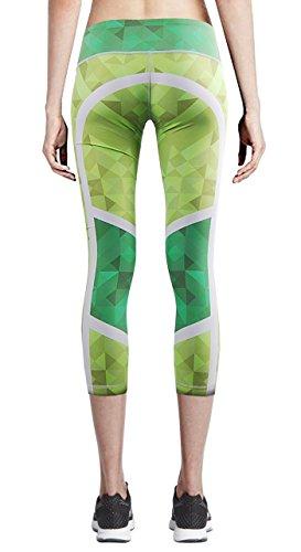 Zipravs Women Tight Capri Running Compression Yoga Cropped Leggings ZYCP-41