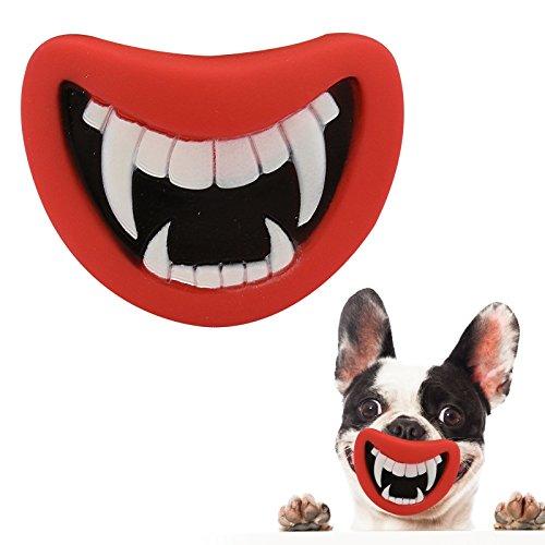 Pet Mund Hund Spielen Spielzeug Puppy Quietschen Sound Neuheit Kauen Funny Witz 4Familie Fun weiche Silikon interne (Familie Dress Ideen Up)