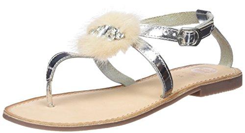 Gioseppo Women's 45329 Platform Sandals, Silver, 4 UK