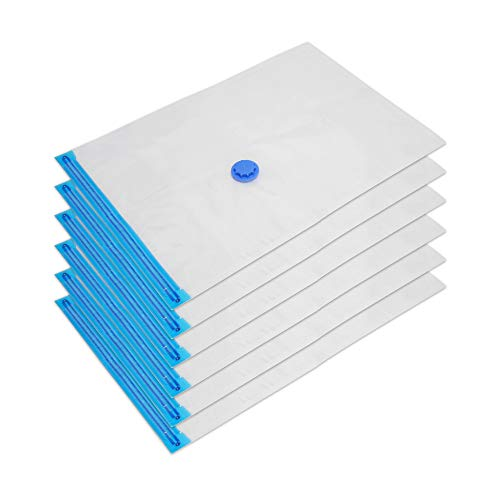 Edaygo sacchetti sottovuoto salvaspazio riutilizzabili 130 x 90 cm, 6 pezzi